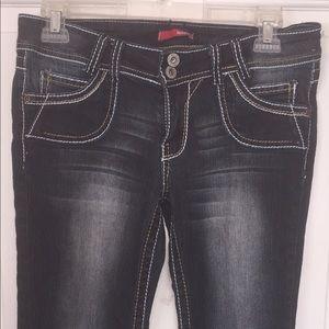 Bongo Jeans Thick Stitch  sz 7 Stretch Boot Cut